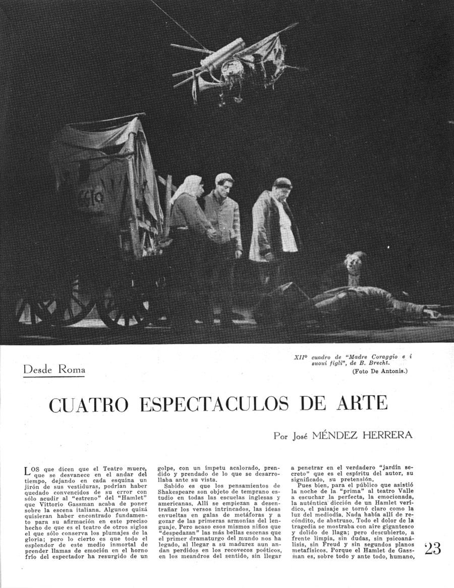 """RECUERDOS DE LA REVISTA """"TEATRO"""" 1952-1957"""
